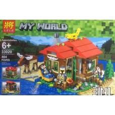 Конструктор для мальчиков Lele Minecraft 3 в 1 404 детали арт. 33020 43790-06 lvt-33020