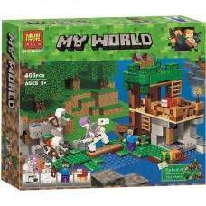 """Конструктор с фигурами Bela Minecraft """"Нападение армии скелетов"""" (аналог Lego Minecraft) 463 детали арт. 10989"""