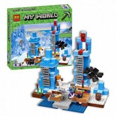 Конструктор для мальчиков Ледяные шипы: постройка, фигурки, аксессуары, 460 деталей - Bela Minecraft My World