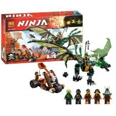 Конструктор с мини-фигурками для мальчиков Ninja Зелёный энерджи дракон Ллойда 603 детали арт. 10526 (79345) 43752-06 lvt-10526