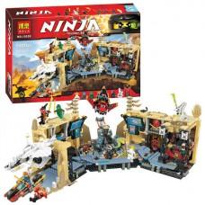 Конструктор Bela Ninja Хаос в X-пещере Самураев (аналог Lego Ninjago 70596) 1307 деталей арт. 10530 43753-06 lvt-10530