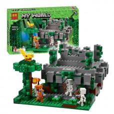 Конструктор для мальчиков Храм в джунглях: игровая постройка, 4 фигурки, 604 детали - Bela Minecraft My World