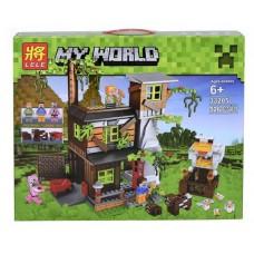 Конструктор для мальчиков с тремя мини-фигурками Lele Minecraft Большой курятник 526 деталей арт. 33205 43634-06 lvt-33205