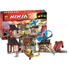 Конструктор Bela Ninja Боевая площадка для аэроджитцу Ninjago 686 деталей арт. 10527 43755-06 lvt-10527