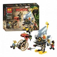 Конструктор с 4 мини-фигурками  для мальчика Ninja Нападение пираньи 261 деталь арт. 10797 43295-06 lvt-10797