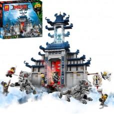 Конструктор для мальчика с 5 мини-фигурками Lele Ninjago Храм Великого Оружия 1443 детали арт. 31075 43656-06 lvt-31075