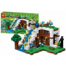 Конструктор для мальчиков База на водопаде: постройка, фигурки, животные, 747 деталей - Bela Minecraft My World