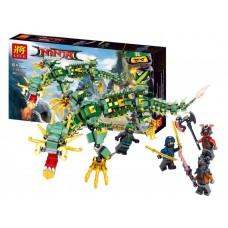 Конструктор  с 4 фигурками Lele Ninja Механический Дракон Зеленого Ниндзя  493 детали арт. 31053 43466-06 lvt-31053