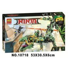 Конструктор с 4 мини-фигурками Ninjago Bela Механический дракон Зеленого Ниндзя 573 деталей арт. 10718 43436-06 lvt-10718