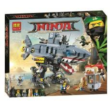 Конструктор с 6 мини-фигурками  для мальчика Ninja Морской дьявол Гармадона арт. 10799 43296-06 lvt-10799