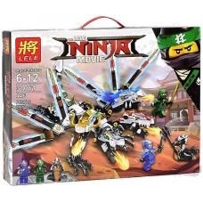 Конструктор с двумя мини-фигурками для мальчика Ninja Lele Трехглавый дракон Ниндзя 446 деталей арт. 31061 43297-06 lvt-31061