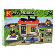 Конструктор для мальчиков Lele Minecraft Отдых на природе 3 в 1 366 деталей арт. 33076 43638-06 lvt-33076