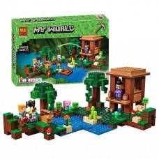 Конструктор для мальчиков Хижина ведьмы: постройка, фигурки, аксессуары, 508 деталей - Bela Minecraft My World