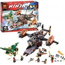Конструктор для мальчиков с 6 мини-фигурками Bela Ninja Цитадель Несчастья 757 деталей арт. 10462 43688-06 lvt-10462