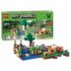 Конструктор с 4 фигурками для мальчиков Minecraft Ферма 262 деталей арт. 10175 (79044) 43668-06 lvt-10175