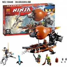 Конструктор с мини-фигурками (Зейн, Дублон и Кленси) Bela Ninja Пиратский Дирижабль 294 детали арт. 10448 43689-06 lvt-10448