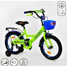 *Велосипед 2х колесный (16 дюймов) с дополнительными колесами ТМ Corso арт. 16520