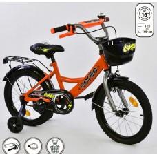 *Велосипед 2х колесный (16 дюймов) с дополнительными колесами ТМ Corso арт. 16002