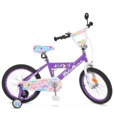 """Велосипед детский 2-х колесный Profi (18"""") от 6-8 лет, боковые колеса, звонок, зеркало, катафоты арт. L18132*"""