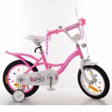 """Велосипед детский 2-х колесный Profi (12"""") для девочек от 5-6 лет, доп. колеса, звонок, розовый арт. SY12191*"""