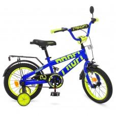 """Велосипед детский 2-х колесный Profi (14"""") с доп. колесами, от 5-6 лет, звонок, катафоты, зеркало арт. T14175*"""