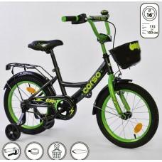 *Велосипед 2х колесный (16 дюймов) с дополнительными колесами ТМ Corso арт. 16775