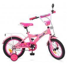 """Велосипед детский 2-х колесный Profi (14"""") от 5-6 лет, боковые колеса, зеркало, звонок, катафоты арт. T1461*"""