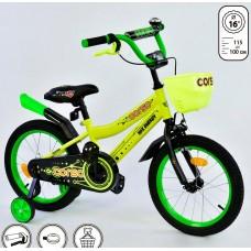 *Велосипед 2х колесный (16 дюймов) с дополнительными колесами ТМ Corso арт. 16140