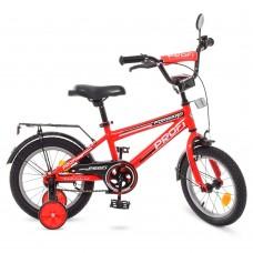 """Велосипед детский 2-х колесный Profi (14"""") от 5-6 лет, боковые колеса, зеркало, звонок, катафоты арт. T1475*"""
