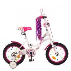 """Велосипед детский 2-х колесный Profi (14"""") с доп. колесами, от 5-6 лет, звонок, фонарик, наклейки арт. Y1425*"""