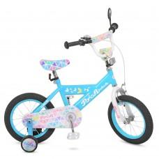 """Велосипед детский 2-х колесный Profi (14"""") с доп. колесами, от 5-6 лет, звонок, зеркало, катафоты арт. L14133*"""