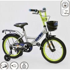 *Велосипед 2х колесный (16 дюймов) с дополнительными колесами ТМ Corso арт. 16250