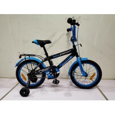 """Велосипед детский 2-х колесный Profi (14"""") от 5-6 лет, доп. колеса, звонок, зеркало, черно-синий арт. SY1453*"""