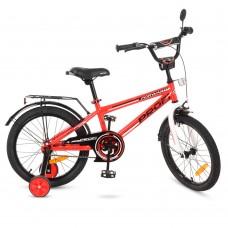 """Велосипед детский 2-х колесный Profi (18"""") от 6-8 лет, боковые колеса, звонок, зеркало, катафоты арт. T1875*"""
