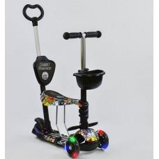 Детский Самокат-беговел Best Scooter 5в1 для детей от 1 до 5 лет с родительской ручкой, подножками арт. 34760