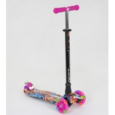 Детский Самокат для детей от 2х лет 3-х колесный, свет. колеса, ABEC-7, руль 63-86 см, Best Scooter, арт. 1395