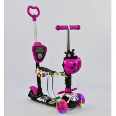 Детский Самокат-беговел Best Scooter 5в1 для детей от 1 до 5 лет с родительской ручкой, подножками арт. 74230