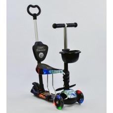 Детский Самокат-беговел Best Scooter 5в1 для детей от 1 до 5 лет с родительской ручкой, подножками арт. 21500