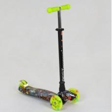 Детский Трехколесный Самокат Best Scooter Maxi Micro со светящимися колесами, руль 63-86 см, арт. 1325/25470
