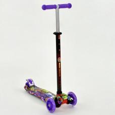Детский Самокат для детей от 2х лет, 3-х колесный, свет. колеса, руль 63-86 см ABEC-7, Best Scooter арт. 1390