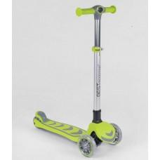 Детский Трехколесный складной Самокат Maxi Best Scooter со светящимися колесами, руль 79 см, ABEC7 арт. 46987