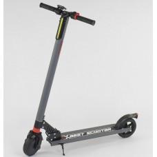 Электросамокат Best Scooter складной, до 100 кг, до 20 км/ч, LED-дисплей, литые шины D=6.5 дюймов, серый