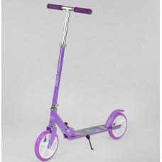 Детский Самокат складной для детей и взрослых, до 70 кг, руль 77-106 см, рама алюминий Best Scooter  арт. 66053
