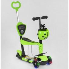 Детский Самокат - беговел 5в1 для детей от 1 до 5 лет с родительской ручкой, подножками Best Scooter арт. 95540