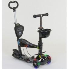 *Самокат - беговел 5в1 Best Scooter с родительской ручкой и подножками арт. 35110