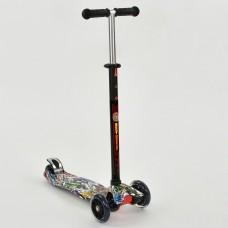 "Детский трехколесный самокат со светящими колесами ""Best Scooter"" (аналог Maxi Micro), подшип. ABEC7 арт. 1386"