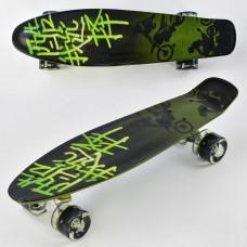 Детский Скейт (пенни борд) Penny board со светящимися колесами, 55х14.5 см до 70 кг АБСТРАКЦИЯ арт. 9160/99160