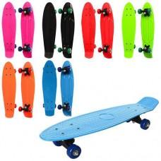 Скейт - пенни борд (Красный с синими колесами) арт. 0847