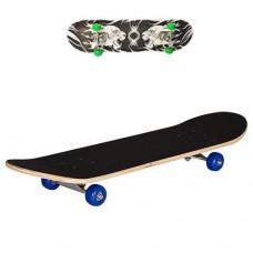 Детский деревянный скейт, подшипники 608 Z, 78х20 см, нагрузка до 40 кг, Тигры, зеленые колеса арт. 0322-2