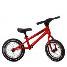 Беговел Profi надувные колеса 12 дюймов, стальная рама, регулировка сиденья 40-47см, руль 57см, красный*